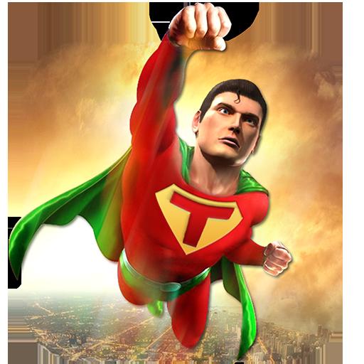 Superhero Flying Crime Battle City Rescue Mission
