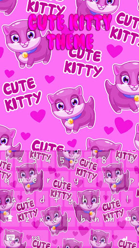 Cute Kitty Keyboard Theme for PC