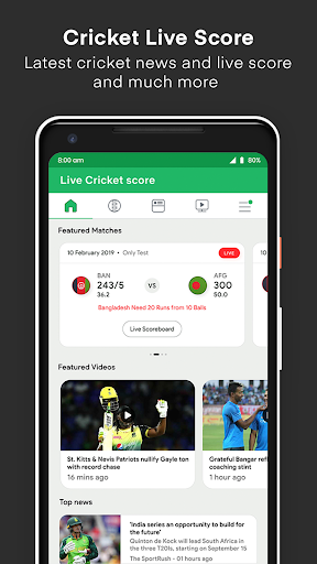 Live Cricket Score screenshot 1