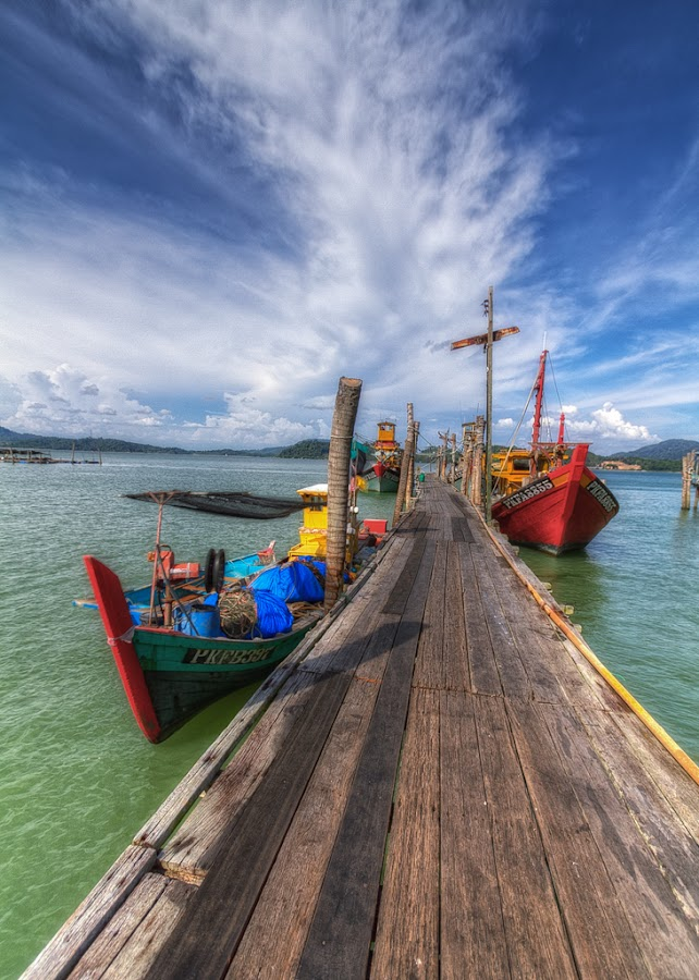 Fishing Boats by Arul Aruleswaran - Transportation Boats