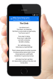 Miley Cyrus 50 Top Song Lyrics - Android Apps on Google Play