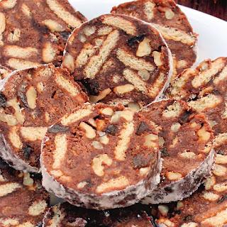 """""""Biscuit salami"""" cookies."""