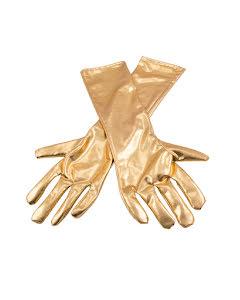 Handskar,  guldmetallic