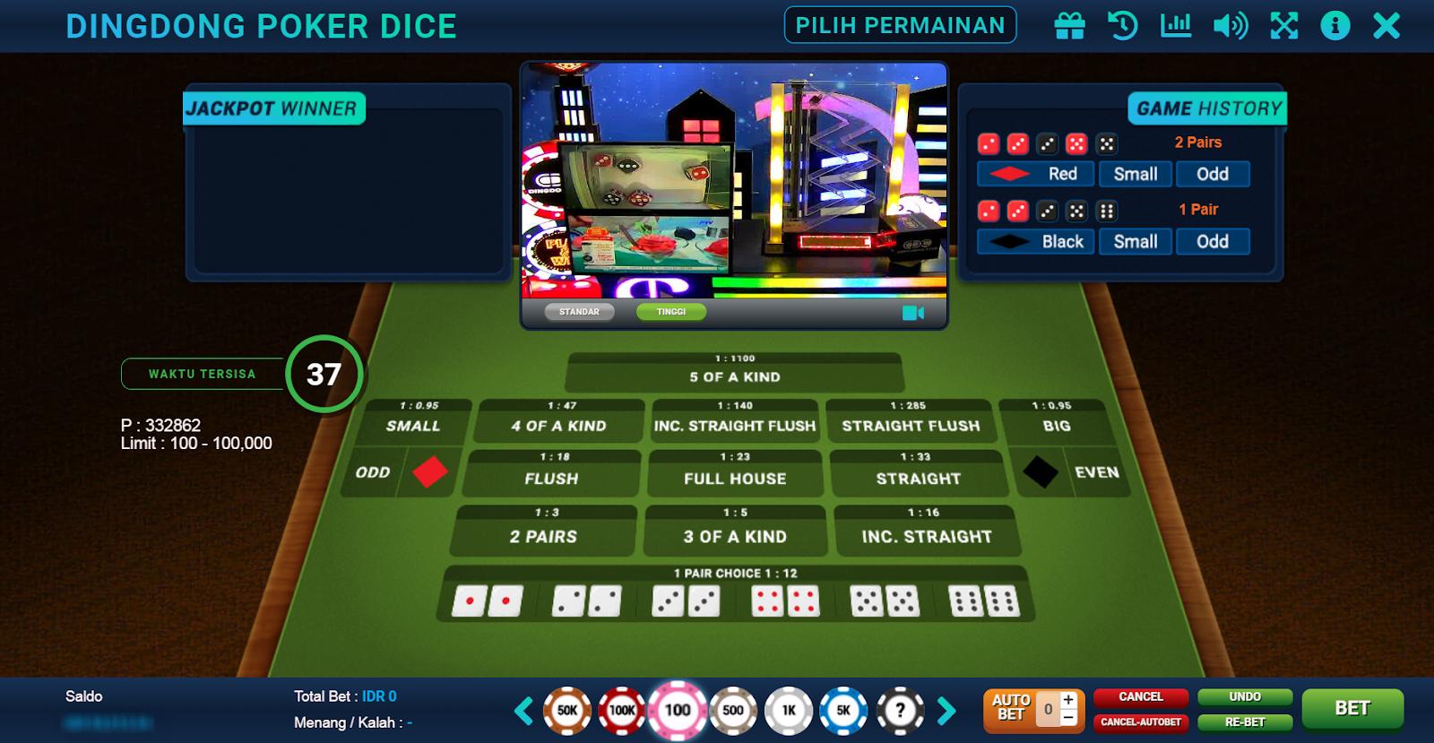 Cara Bermain Dingdong Poker Dice