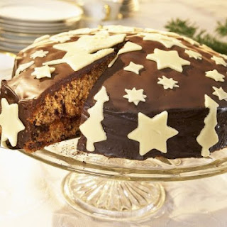 Glazed & Decorated Christmas Cake