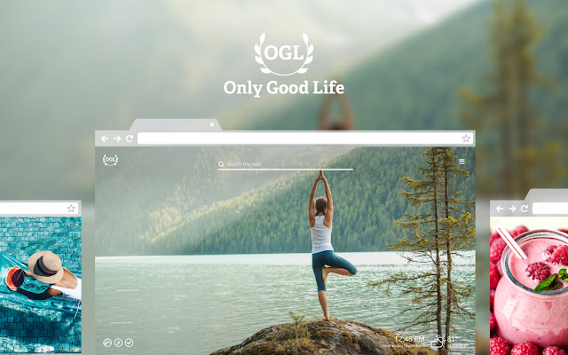 Only Good Life HD Wallpaper New Tab Theme