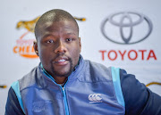 Oupa Mohoje captain of Toyota Cheetahs during the Toyota Cheetahs media conference at Toyota Stadium on August 28, 2018 in Bloemfontein, South Africa.