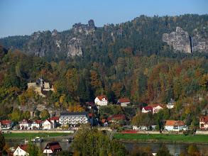 Photo: Blick auf Rathen von der Ostseite