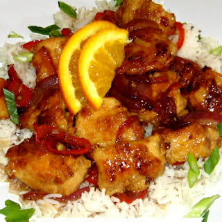 Spicy Orange Chicken.