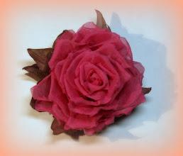 Photo: Цветок из ткани - Роза из шелка
