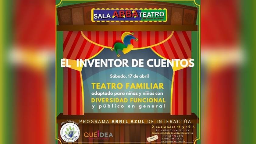 ABRIL AZUL de InterActúa acerca el teatro Infantil adaptado para niñas y niños con diversidad funcional.