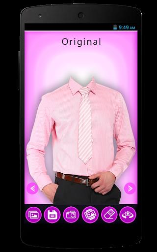 Men Shirt With Tie Foto Editor