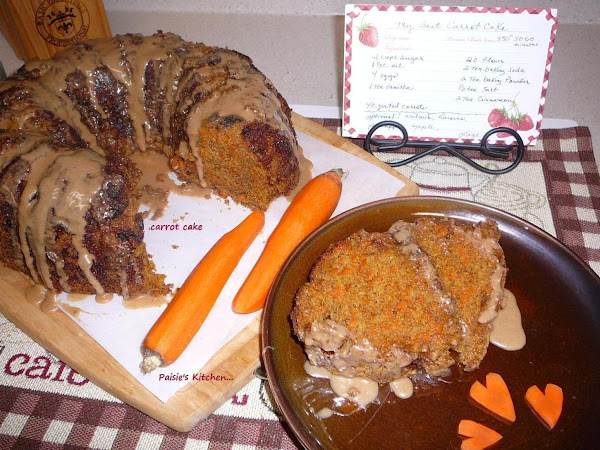 My Best Carrot Cake With Cinnamon Glaze Recipe