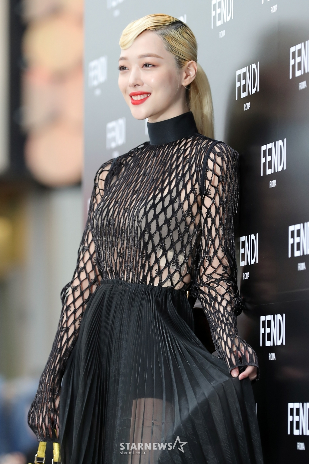 sulli seethrough dress 8