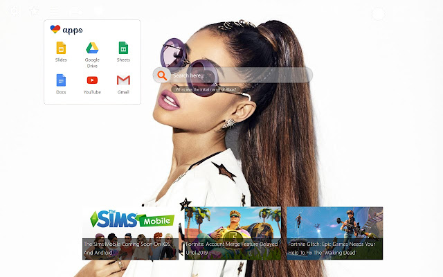Ariana Grande Star Wallpapers and New Tab