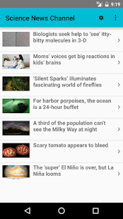 Science News Channel- screenshot thumbnail