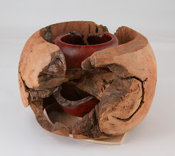 Photo: Bill Long - Manzanita root burl bowl inside it's shell.