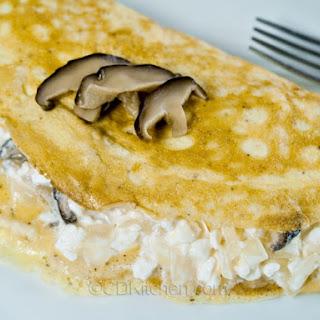 Quick Shiitake Mushroom Omelet