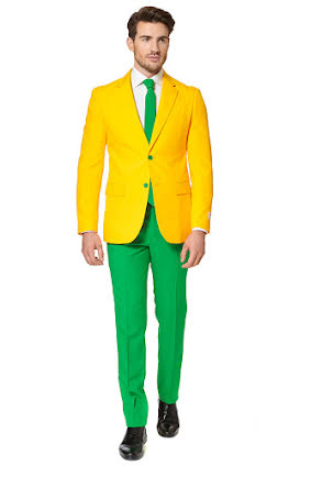 Opposuit, green and gold