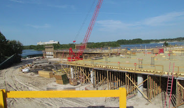 Photo: The second story is just starting to be added to the Grand Floridian DVC Tower