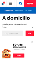 Screenshot of Dominos Pizza - Venta Online