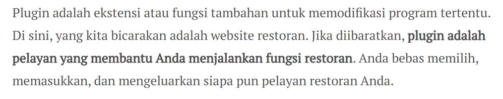Penggunaan Kode HTML Bold Text