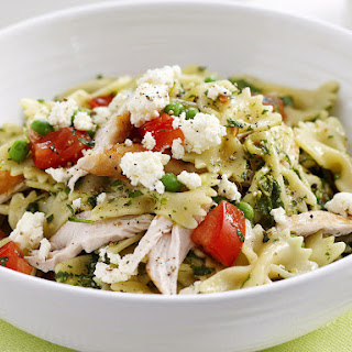 Chicken Pasta with Spicy Herb Pesto