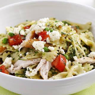 Chicken Pasta with Spicy Herb Pesto.