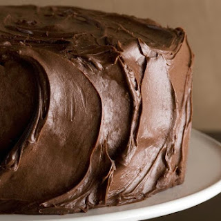 Chocolate Sour Cream Cake with Chocolate Frosting.