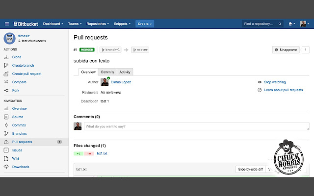 Chuck Norris Approved Pull Requests