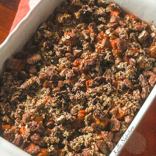 Maple Sweet Potato Casserole with Pecan Topping