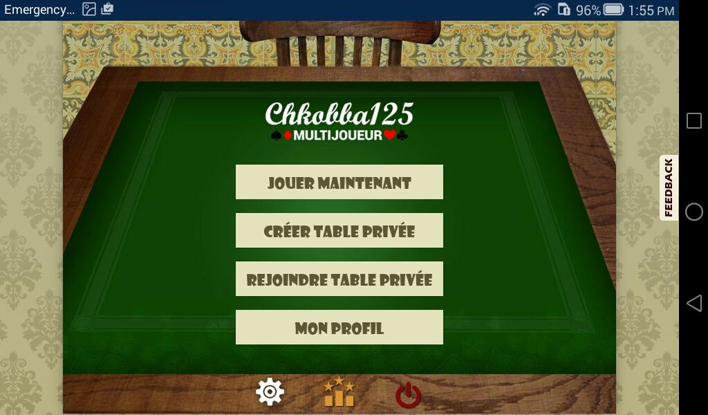 Chkobba Multijoueur 125- screenshot