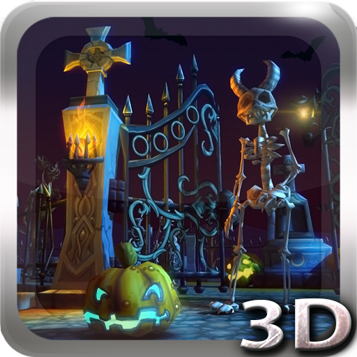 Halloween Cemetery 3D LWP app for Android