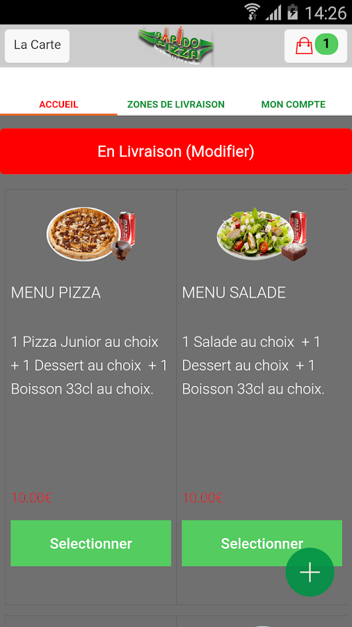 Rapido Pizza Asnières- screenshot