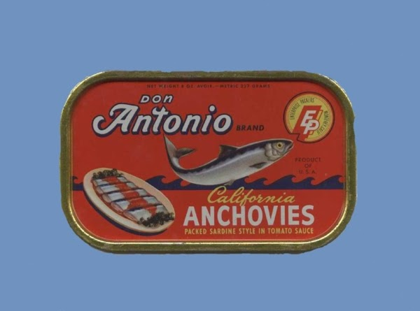 Using a blender or food processor:  Put in anchovies,