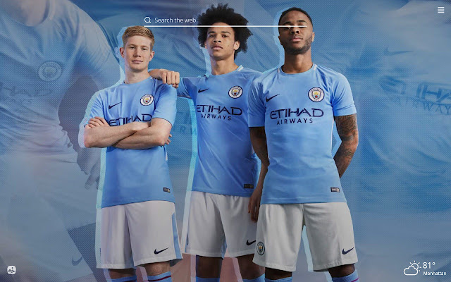 Manchester City FC HD Wallpaper New Tab Theme