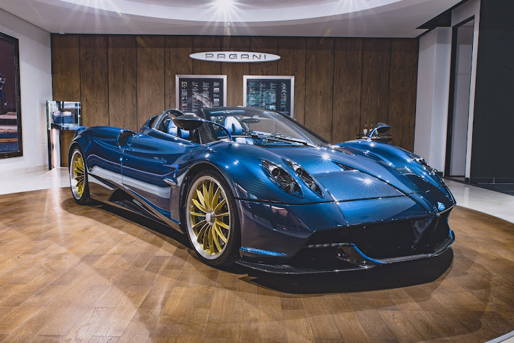 Two Pagani Huayra Roadsters are coming to South Africa from a worldwide allocation of 100 units. Picture: SUPPLIED