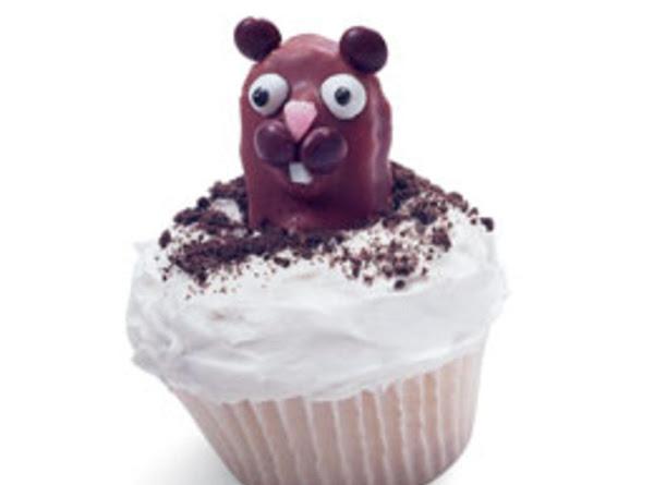 Punxsutawney Phil Groundhog Cup Cakes Recipe