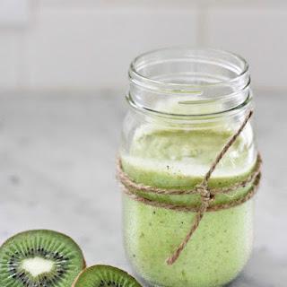 Kiwi Avocado Smoothie with Lime and Honey