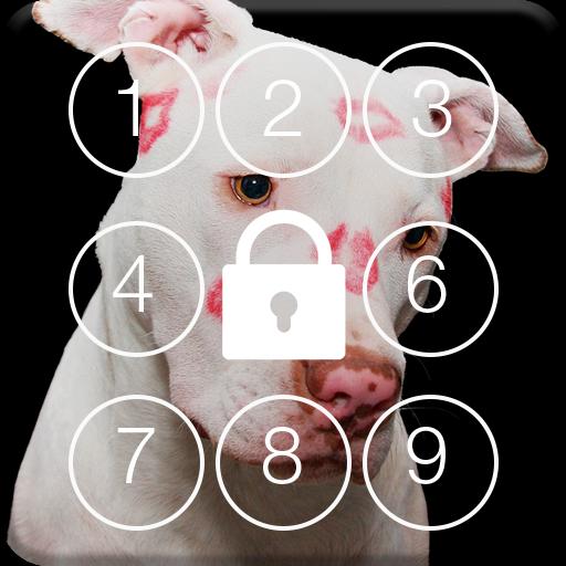 Lovely Love Dog Screen Lock