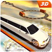 Limo Car Sky Track Impossible Driving Simulator 3D