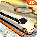 Limo Car Sky Track Impossible Driving Simulator 3D Icon