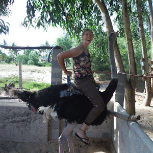 Ostrich Riding in Vietnam Solo Woman Travel