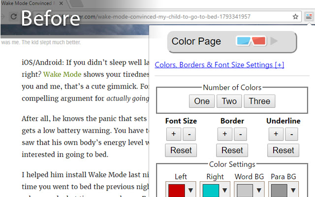 Lazy Eye Training: Web Reader