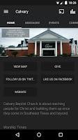 Screenshot of Calvary Baptist Church App