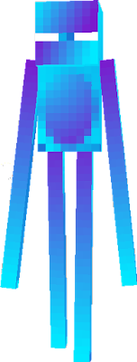 This is a frozen enderman.