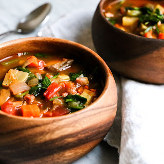 Whole30 Minestrone Soup.