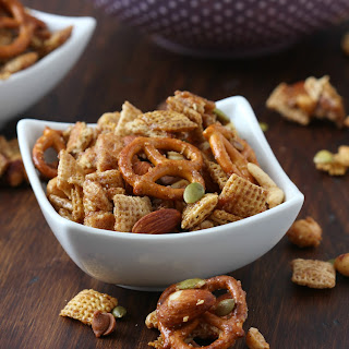 Slow Cooker Cinnamon Maple Chex Mix