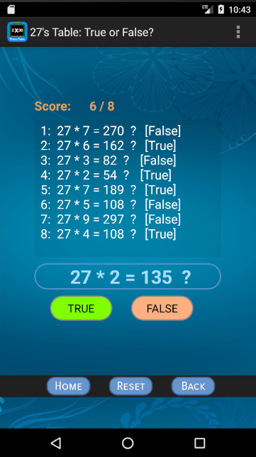 Times Table Memorizer- screenshot