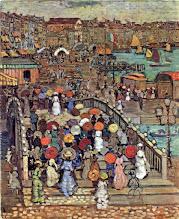 """Photo: Maurice Prendergast, """"Ponte della Paglia a Venezia"""" (1899)"""